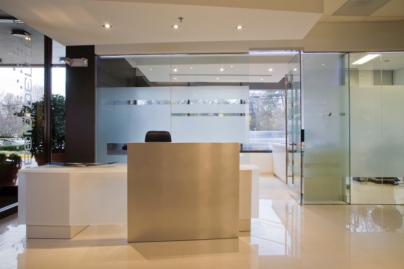 Reception Area at Obeid Dental in Chevy Chase, Maryland